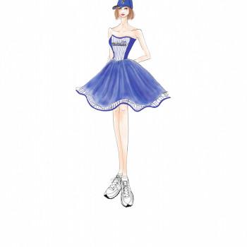 『 FLARE 』と『横浜 DeNA ベイスターズ』 コラボレーションドレスを始球式でお披露目♡
