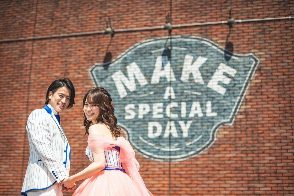 【横浜DeNAベイスターズコラボレーションドレス】結婚式場で本格フォト
