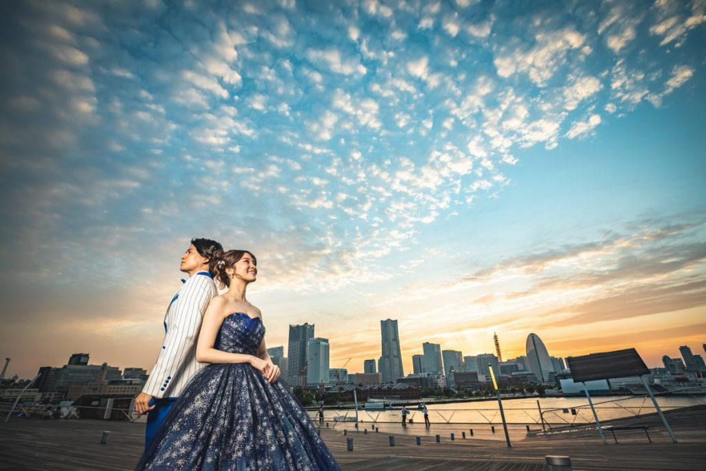 【横浜DeNAベイスターズコラボレーションドレス】横浜絶好のロケーション大桟橋で素敵な思い出を・・・